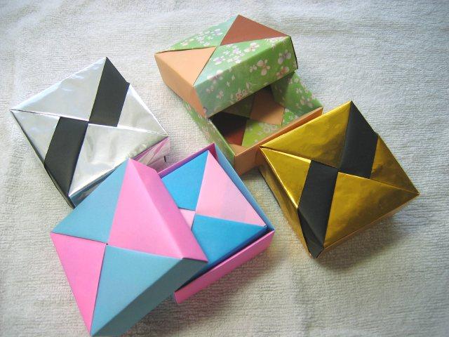 簡単 折り紙 折り紙で箱 : pej-lady.org